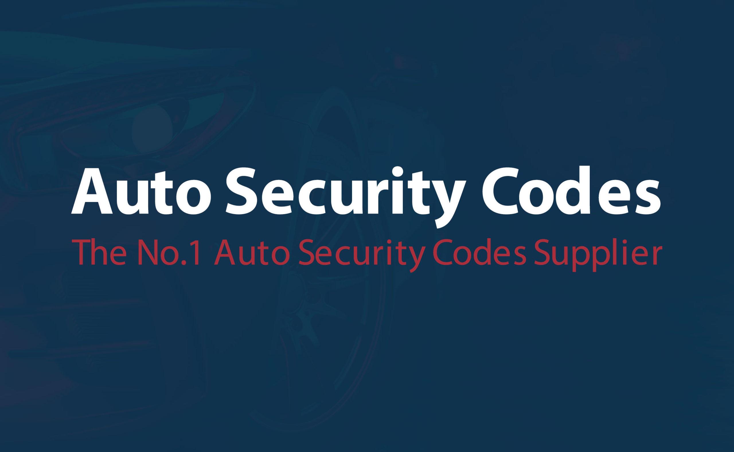 Auto Security Codes